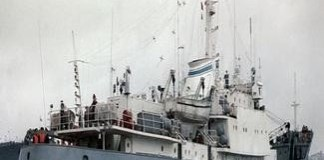 Nava cu peste 16.500 de oi OPRITA si controlata la sange in portul Midia