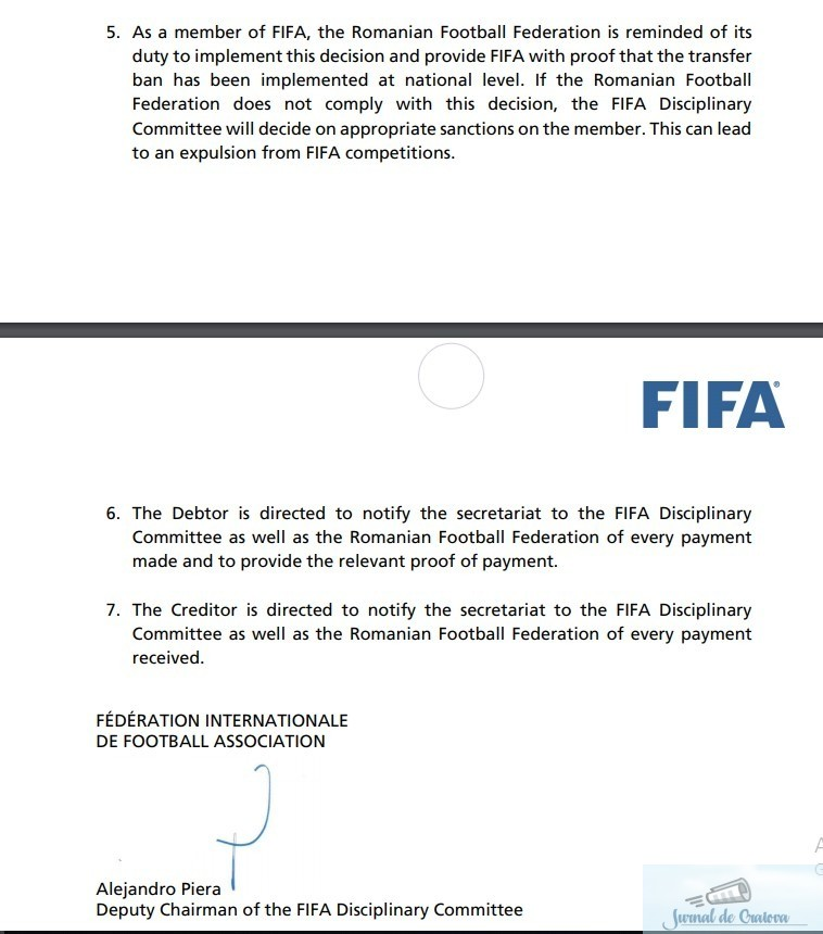 Fotbal : FIFA recunoaste FC UNIVERSITATEA CRAIOVA 1948, din Liga III a, drept continuatoarea Universitatii Craiova !!! 4