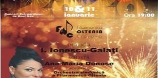 Filarmonica Oltenia Craiova : CONCERT EXTRAORDINAR DE ANUL NOU
