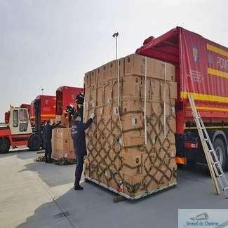 Al doilea transport aerian cu echipamente medicale din Coreea de Sud a ajuns, in aceasta dimineata, in tara