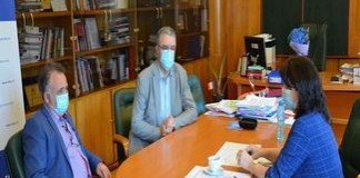 Nicolae Giugea si Alexandru Gidar au discutat cu Monica Anisie, Ministrul Educatieisi Cercetarii despre Colegiul Stefan Odobleja