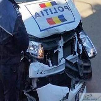 Masina de politie, implicata intr-un accident pe strada Raului ...