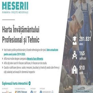 Meserii.ro – platforma digitala care face legatura intre elevi, scolile profesionale si cererea de pe piata muncii