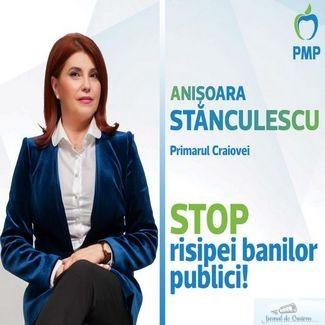 ANIȘOARA STANCULESCU, CANDIDAT PMP PRIMĂRIA CRAIOVA: Am argumente pentru desființarea Poliției Locale