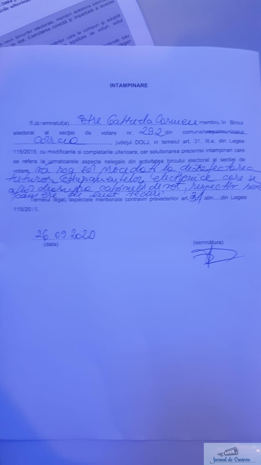 PNL Dolj : La Cârcea, alegătorii supravegheaţi ilegal în cabinele de vot 4
