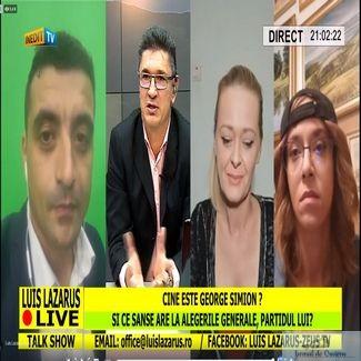 Malin Bot : George Simion o denigrează pe Monica Macovei, în latrina tv Lazarus, cu Iosefina Pascal și Codruța Cerva