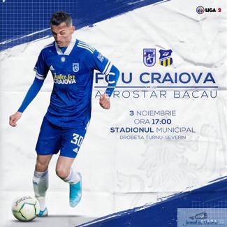 Fotbal : Universitatea Craiova intalneste CS Aerostar Bacau maine incepand cu ora 17:00
