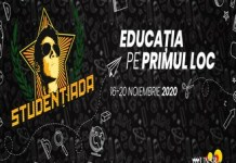 """""""Educația pe primul loc"""" – festivalul Studențiada continuă și în 2020, de data aceasta în format online"""