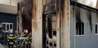 Incendiu la un service auto, în Bariera Vâlcii