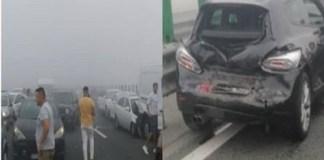 Accident în lanţ cu peste 50 de maşini pe Autostrada Soarelui!