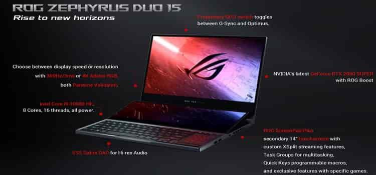 Spesifikasi dan harga laptop asus rog zephyruz duo 15