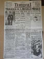 Timpul 8 Septembrie 1940 - Abdicarea Regelui Carol Al 2 -lea Juramantul Regelui Mihai
