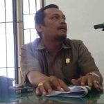 Foto:Frans Bungaran Sitanggaang saat memberikan sejumlah ketereangan kepada wartawan