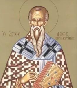 Image result for Leon, episcopul Cataniei, făcătorul de minuni.