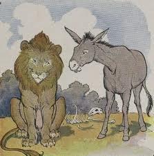 Imagini pentru leul si magarul