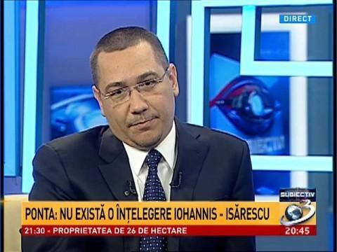 Ponta: Nu există o înţelegere Iohannis-Isărescu