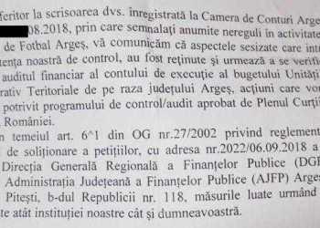 Activitatea AJF Argeş, sub lupa Curţii de Conturi şi a Direcţiei de Finanţe 11