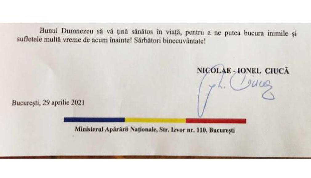 Finalul mesajului ministrului Apărării către toţi veteranii de război din România
