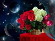 buchet trandafiri noaptea