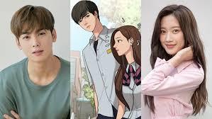 Begini Lucunya Cha Eunwoo Saat Menghibur Moon Ga Young Di Lokasi Syuting