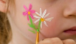 Cheek art sample: Flowers