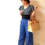 【夏におすすめ!】デニムパラッツォパンツを使ったコーデ7選