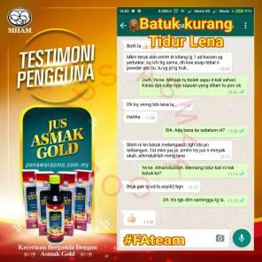 Testimoni Jus Asmak Gold 2