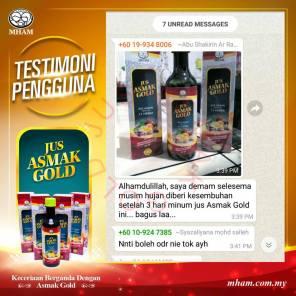 Testimoni Jus Asmak Gold 4