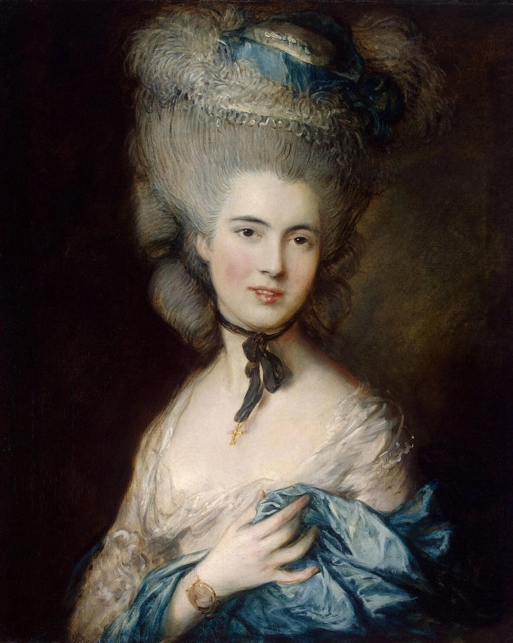 A Woman in Blue, Portrait of the Duchess of Beaufort by Thomas Gainsborough