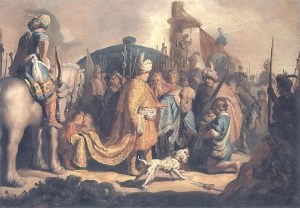 David Offering the Head of Goliath to King Saul