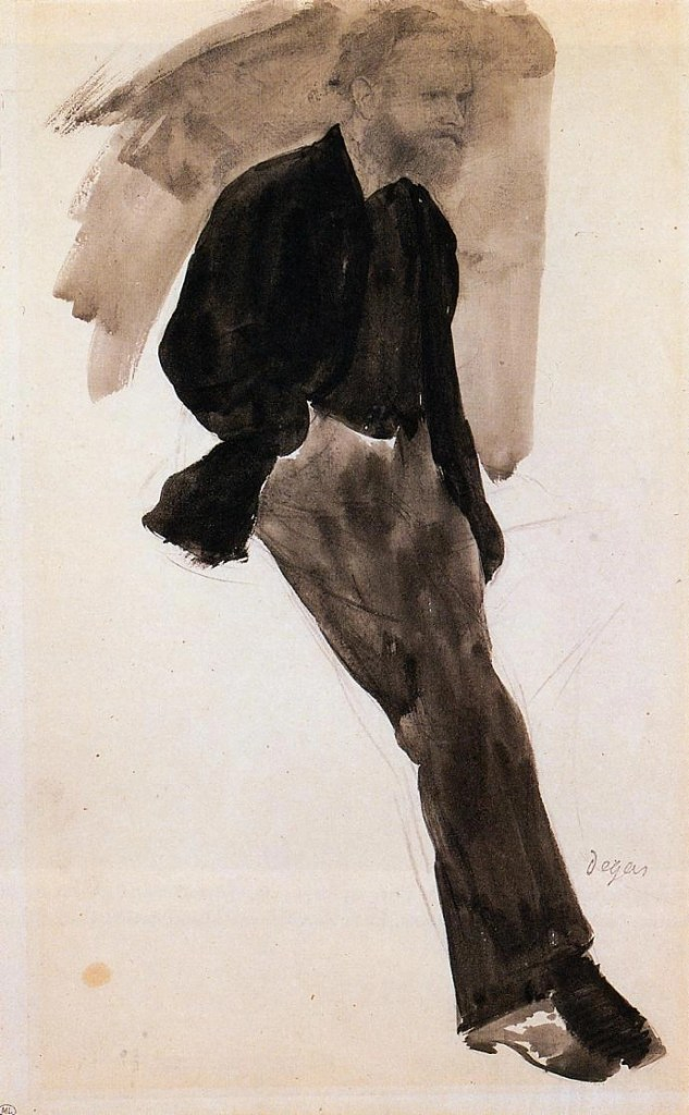 Edouard Manet Standing by Edgar Degas