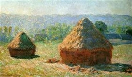 Grainstacks at the End of Summer, Morning Effect by Claude Monet