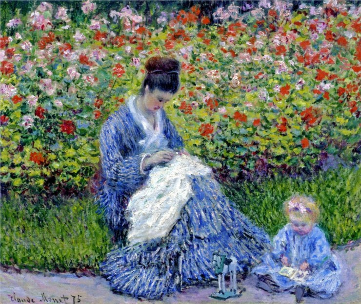 Madame Monet and Child by Claude Monet