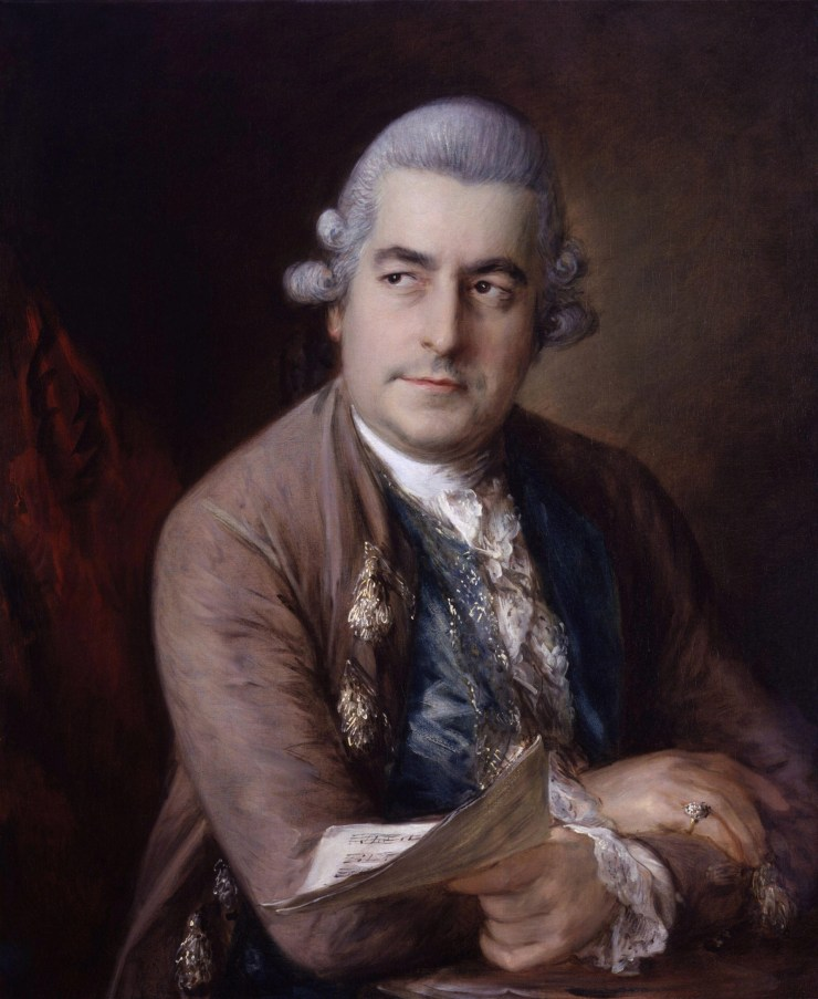Portrait of Johann Christian Bach, youngest son of Johann Sebastian Bach by Thomas Gainsborough