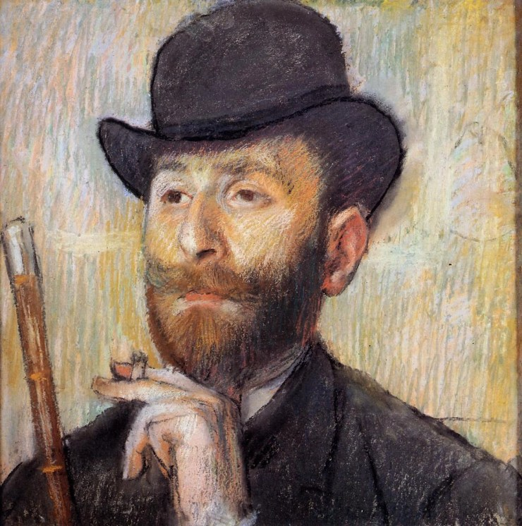 Portrait of Zacherie Zacharian by Edgar Degas
