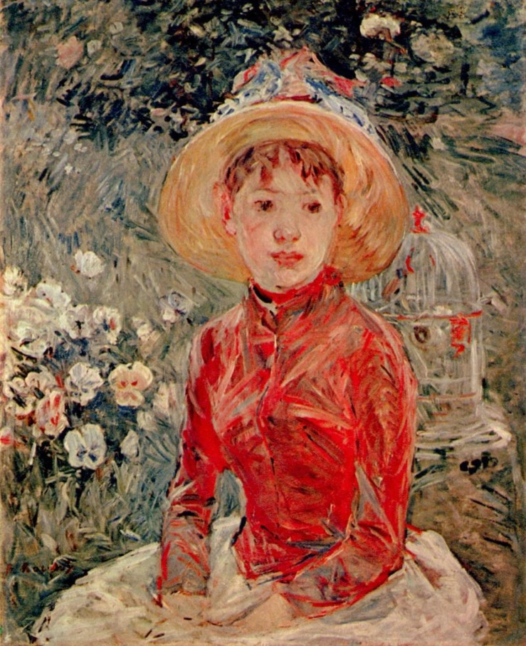 The Red Blouse by Berthe Morisot