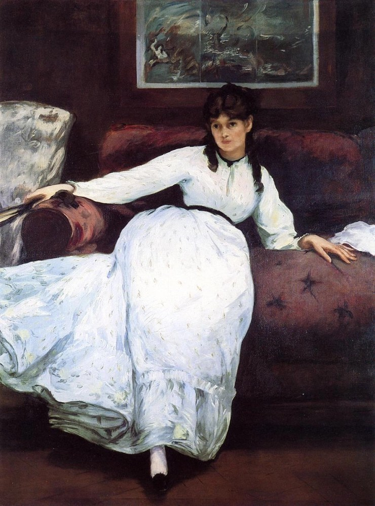 The Rest Portrait of Berthe Morisot 1870 by Edouard Manet