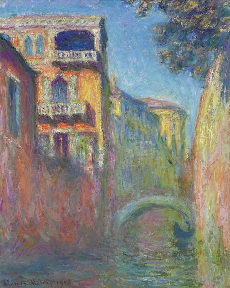 Venice Rio de Santa Salute by Claude Monet