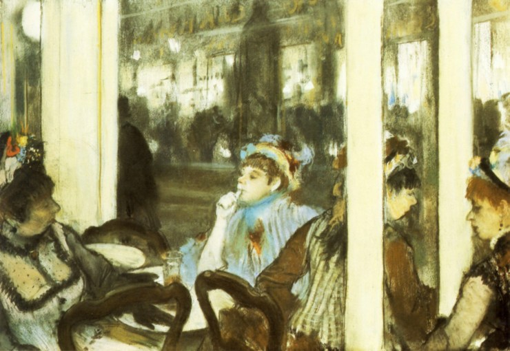 Women on a Cafe Terrace by Edgar Degas