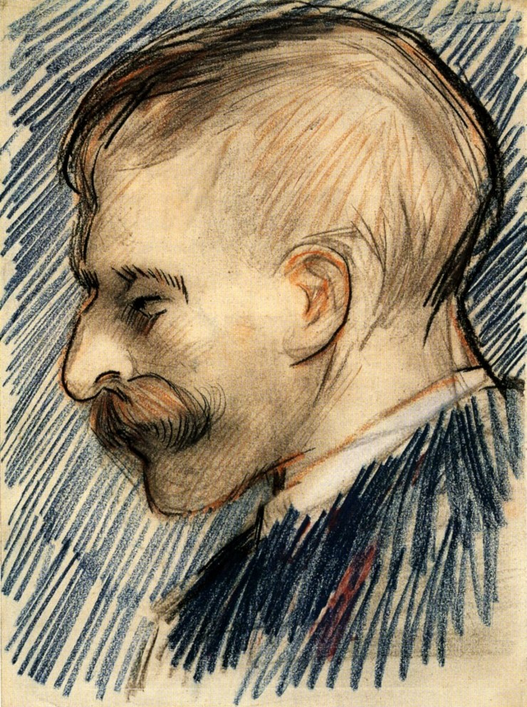 Head of a Man, Possible Theo van Gogh by Vincent van Gogh