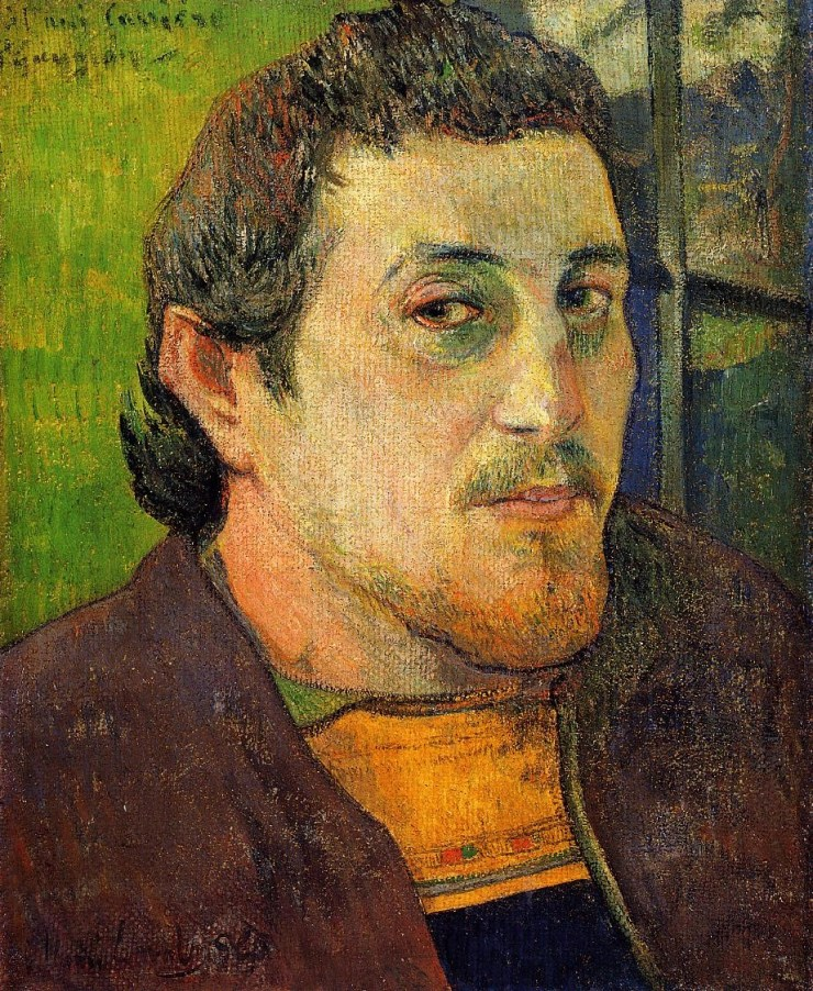 Self-Portrait at Lezaven by Paul Gauguin