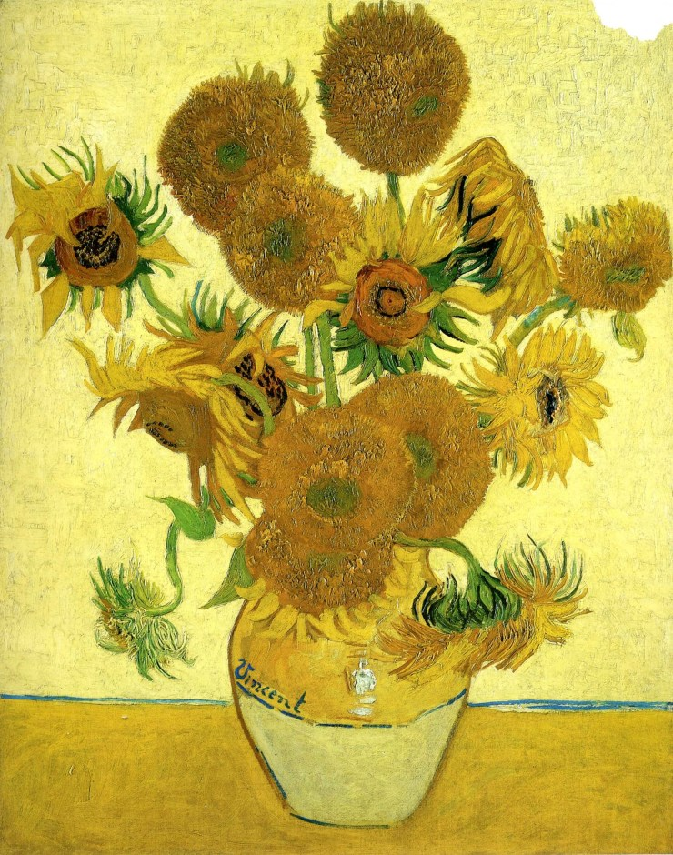 Still Life Vase with Fifteen Sunflowers by Vincent van Gogh