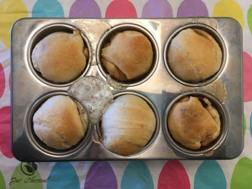 Resurrection rolls - remove from oven
