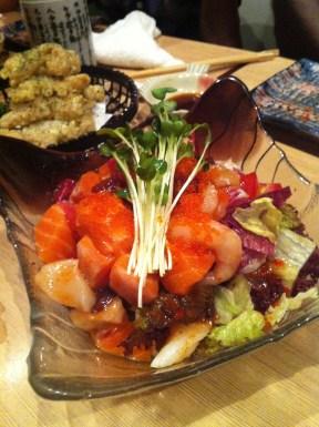 Mixed Sashimi Salad; Hakkaisan