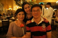 With my parents; Amaroni's Little Italy