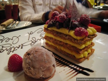 Mille-feuille and Ice-cream