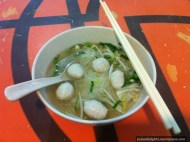 Fishball Noodles; MBK Food Island, Bangkok