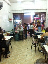 Interior; Samai Seik Chicken Rice, Bangkok