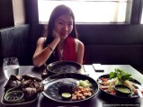Me with the food in front of me; Nara Thai Cuisine, CentralWorld, Bangkok