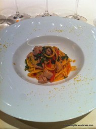 Homemade Tagliolini with Maguro Tuna and Bottarga; 8 ½ Otto e Mezzo BOMBANA
